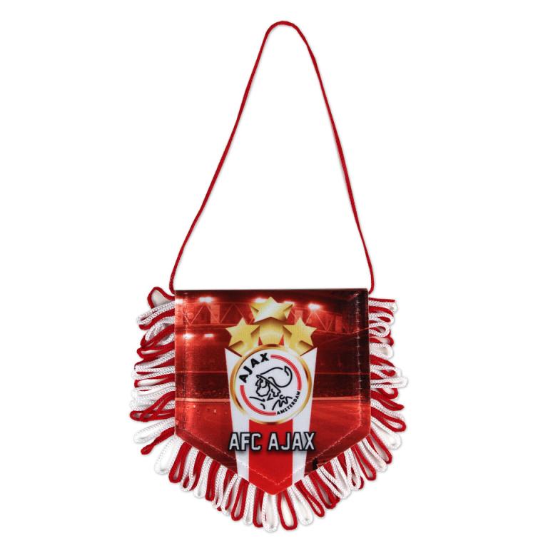 Banier Ajax Logo Rood 3 Sterren