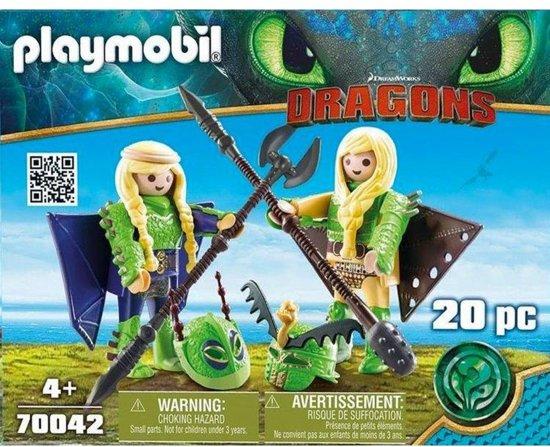 Schorrie en Morrie in Vliegpak Playmobil (70042)