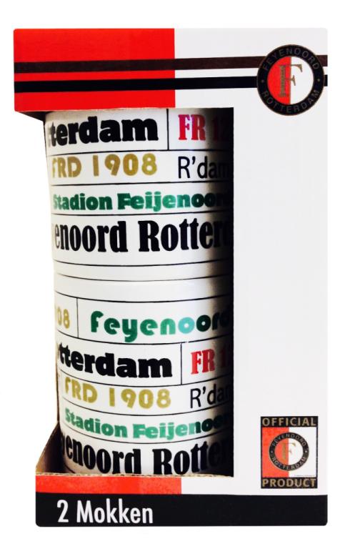 Mok Feyenoord Mokken 2-Pack Stapelbaar