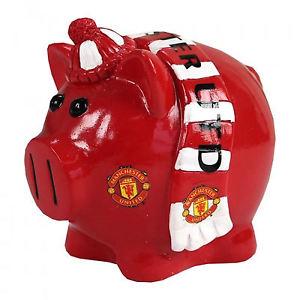 Spaarpot Manchester United Varken size 11.5 x 11.5cm
