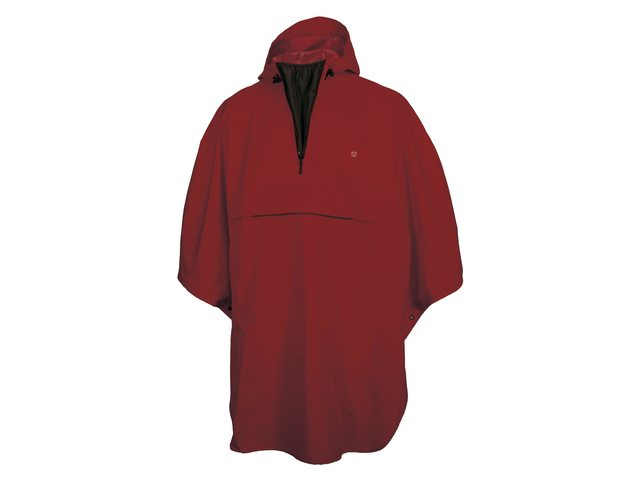 PONCHO GRANT BORDEAUX ROOD ONE SIZE