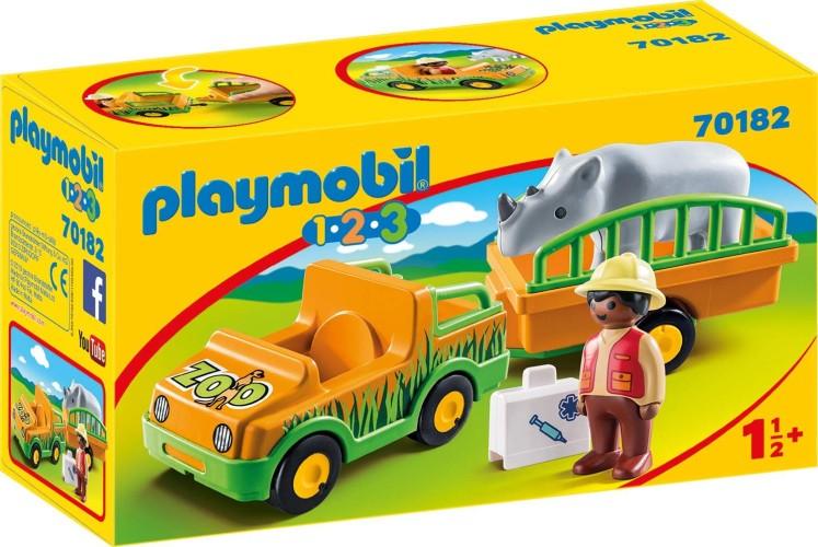 Dierenverzorger met neushoorn Playmobil (70182)