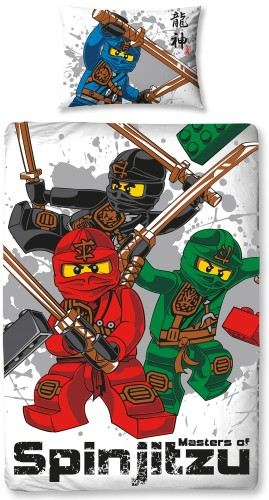 Dekbed Lego Ninjago spinjitzu 140x200/50x75 cm (polycotton)