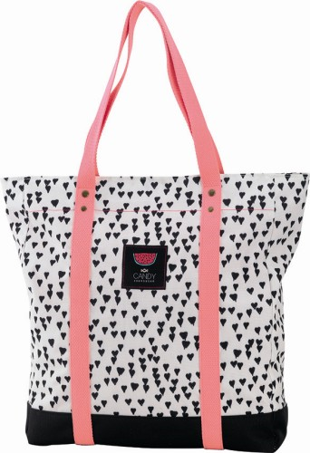 Shopper Candy white Allover Hearts 38x33x10 cm (152CND77272)