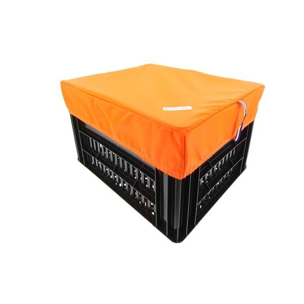 HOOODIE BOX RECHTHOEK ORANJE M