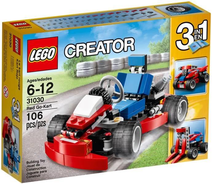 Lego Creator 3 in 1 Rode go-kart Lego 31030