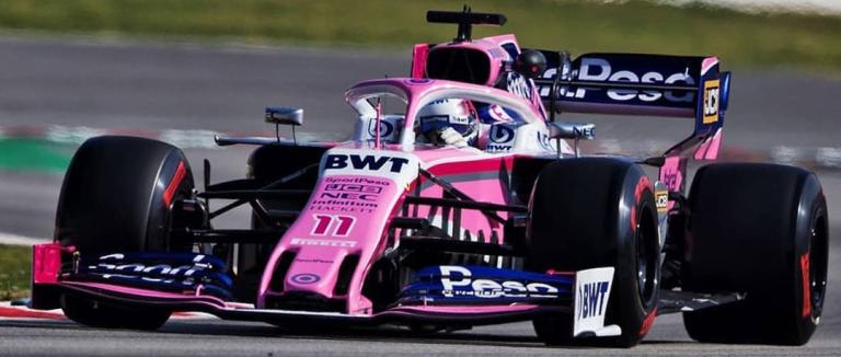 SPORTPESA RACING POINT F1 TEAM MERCEDES RP19 11 SERGIO PEREZ 2019 MINICHAMPS (1:43)