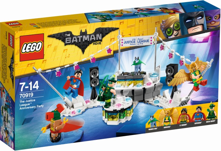 The Justice League jubilee party Lego (70919)