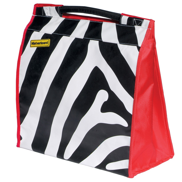 NV shoppertas zebra streep bisonyl