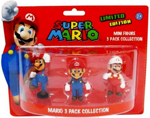 Mini action figures Mario 3-pack Mario