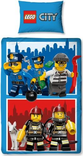 Dekbed Lego City Heroes 140x200/63x63 cm (polycotton)