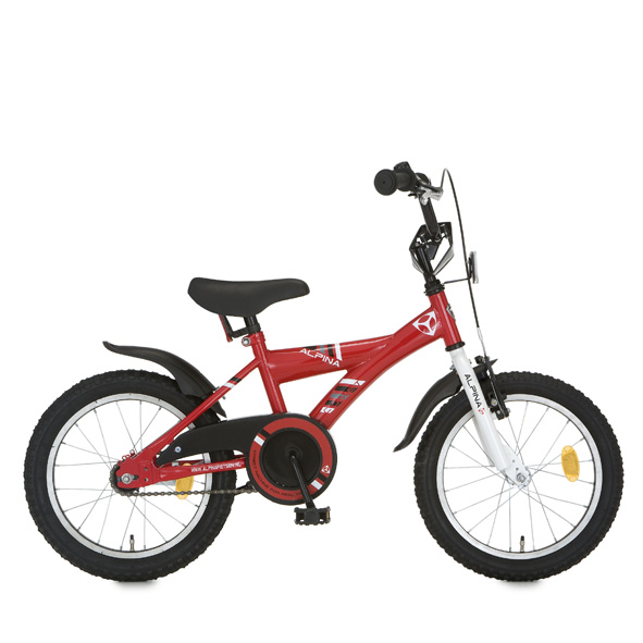 Alpina fiets Comet 16 J remnaaf rood