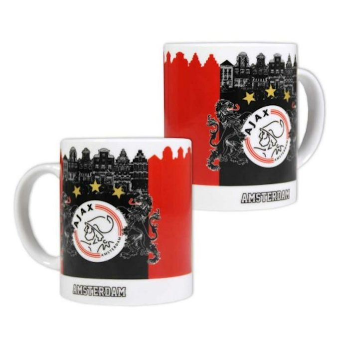Mok Ajax rood/zwart Amsterdam
