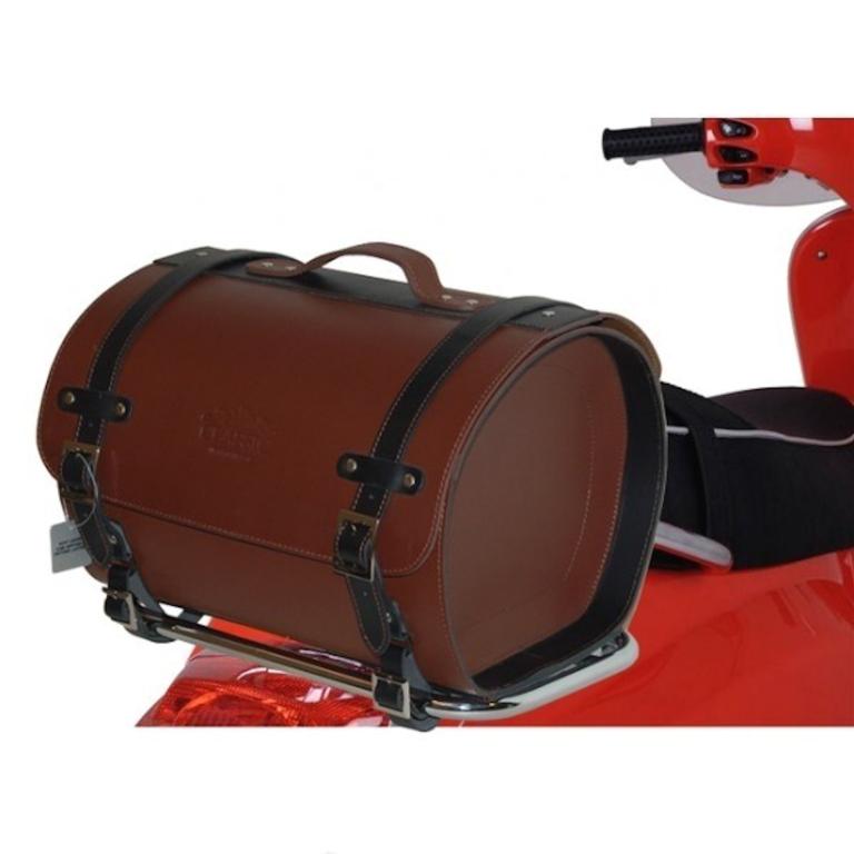 topkoffer leer custom scooter bruin