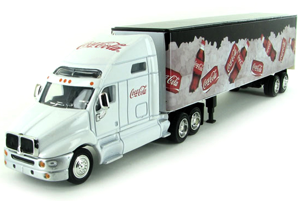 GMC LONG HAULER COCA COLA TRUCK+TRAILER 1:64 (COKE ON ICE)