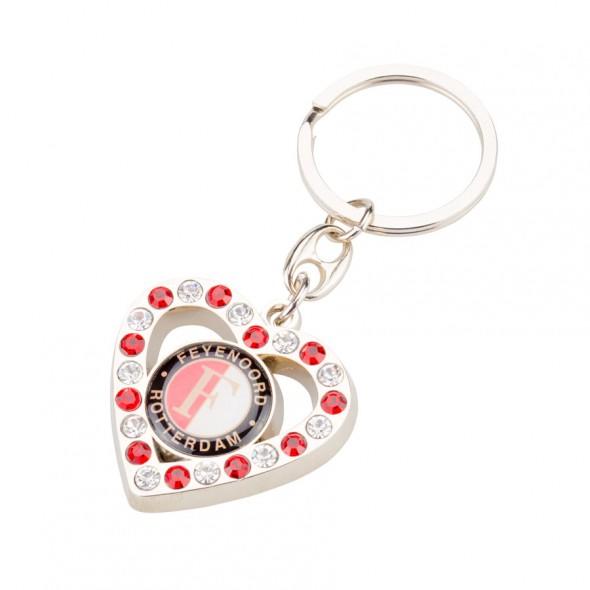 Sleutelhanger Feyenoord metaal Hart Glitter (SLEU020554)