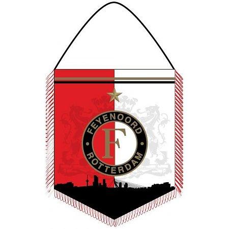 Banier Feyenoord Rood/wit Skyline Vaantje