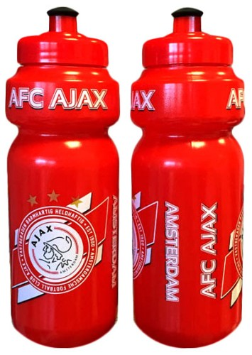 Bidon Ajax wit/rood AFC 650 ml
