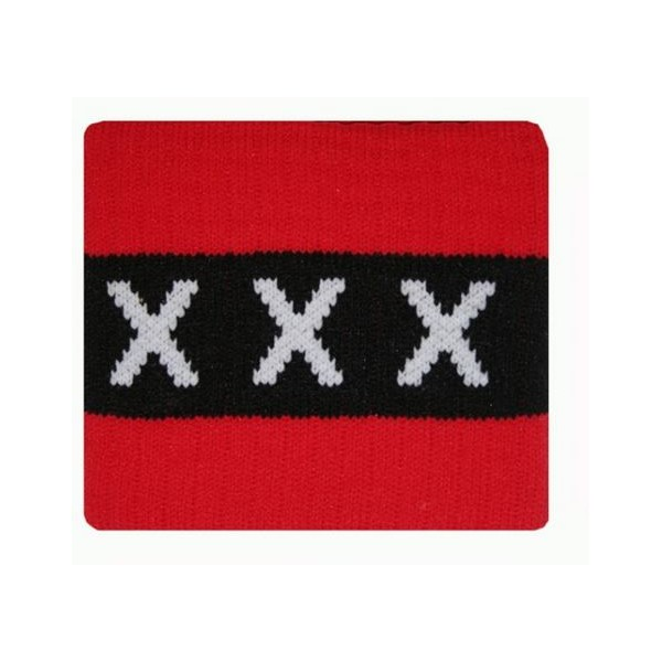 Ajax Aanvoerdersband Senior Rood XXX Logo