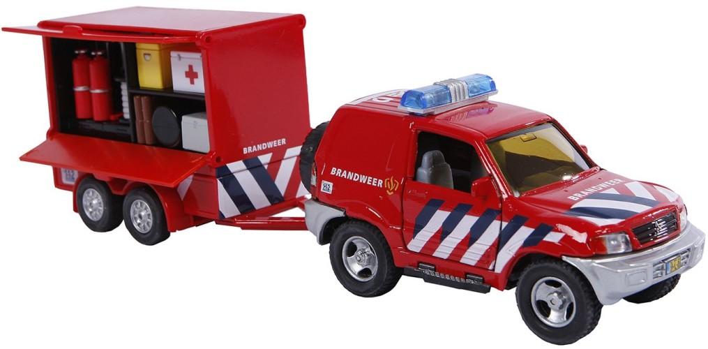 Auto pb 2-Play brandweer met aanhangwagen (521557)