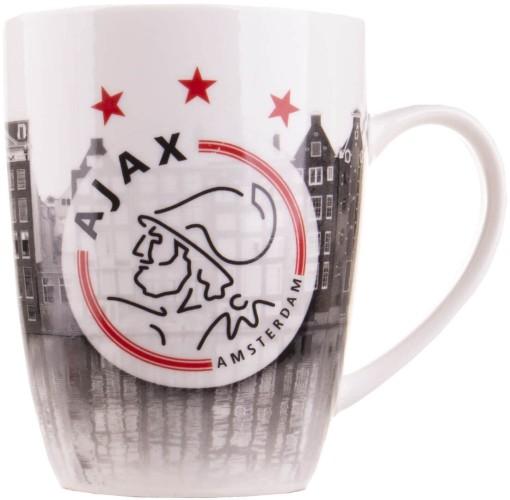 Mok Ajax grijs logo en grachten