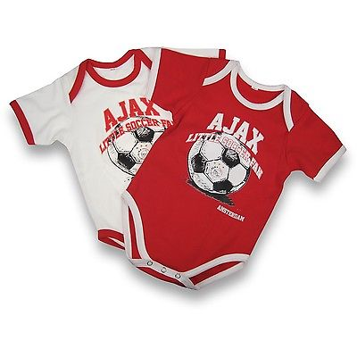 Ajax Rompertjes 2-Pack 62-68 Little Soccer Fan