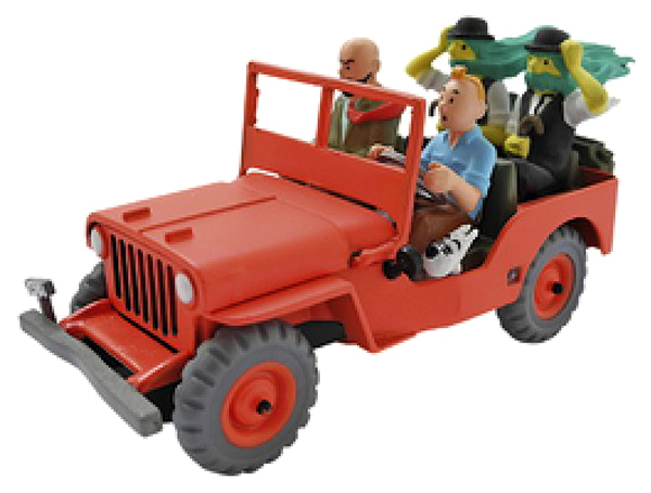 JEEP WILLYS TINTIN (1:43) ATLAS