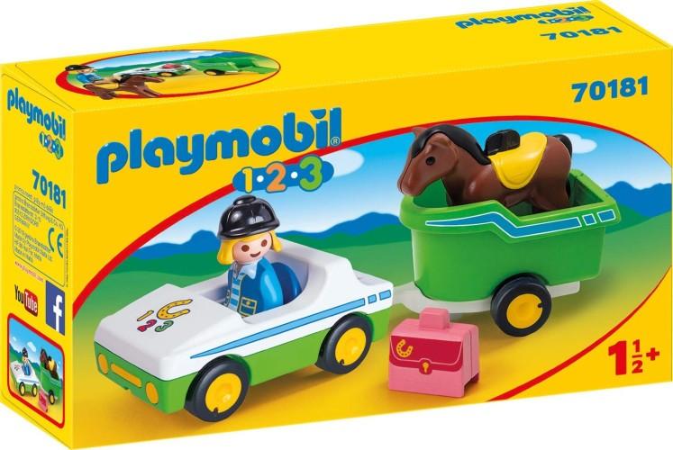 Wagen met paardentrailer Playmobil (70181)