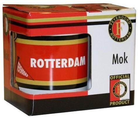 Mok  Feyenoord Wit/Rood Beertje 1-Pack Kadodoosje