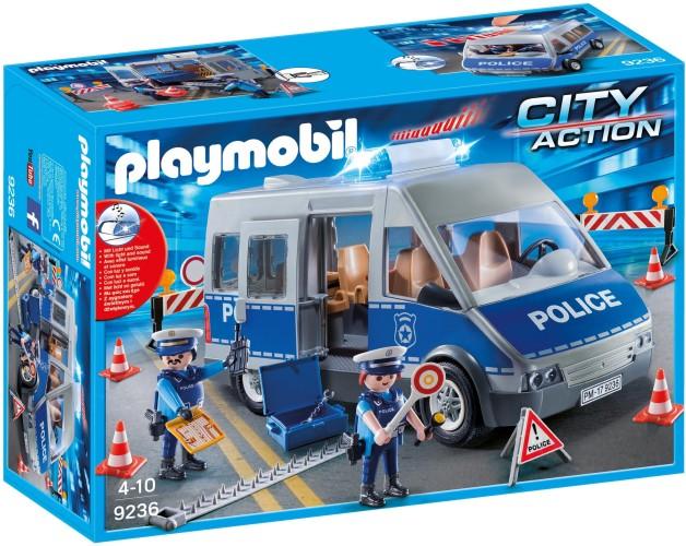 Politie interventiewagen met Wegversperring Playmobil (9236)