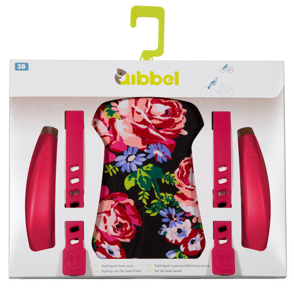 Qibbel stylingset voorzitje Blossom Roses Black