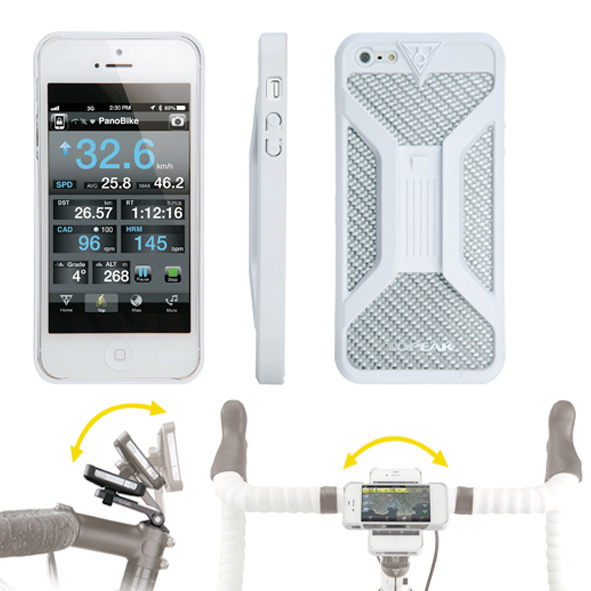 Topeak Iphone 5 houder RideCase wit