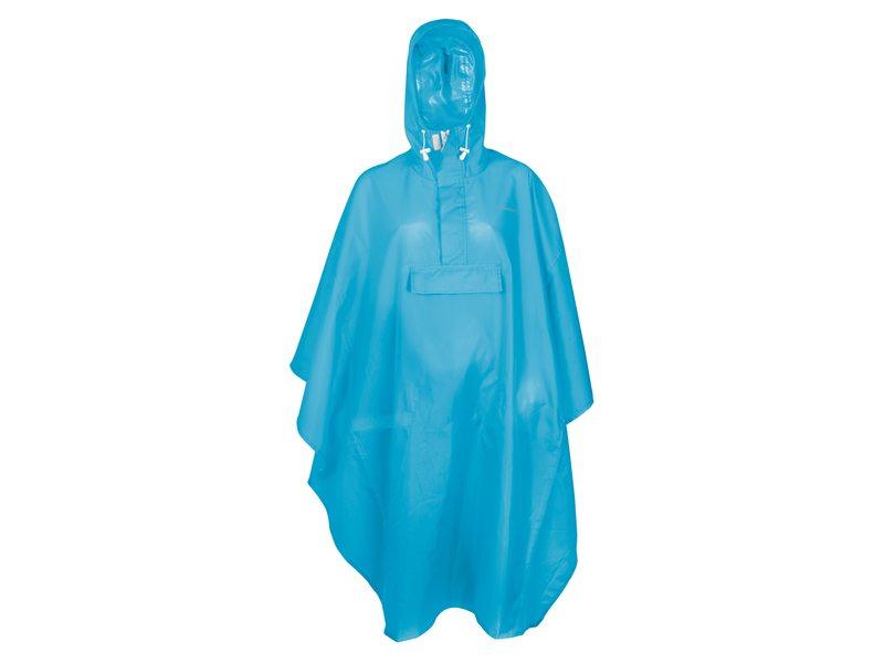 PONCHO BASIC BLAUW ONE SIZE