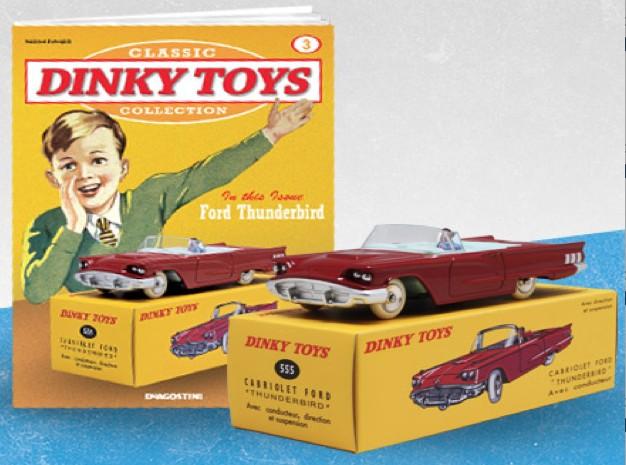 Ford THUNDERBIRD CABRIOLET Rood (I:43) DINKY TOYS