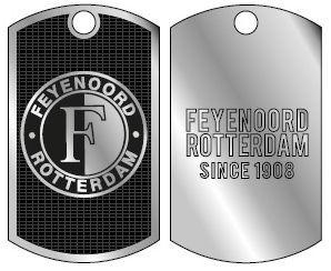 Dogtag Feyenoord Logo Ketting