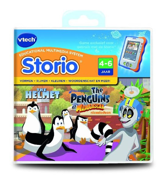 Storio Boek Pinguins Madagascar 4-8 jr