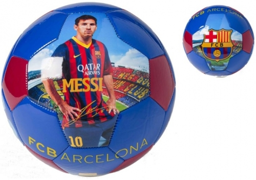 Barcelona Bal Leer Groot Messi Sign