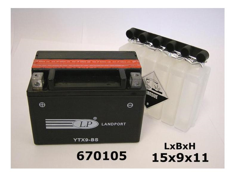 ACCU YTX9BS-12V 8AH