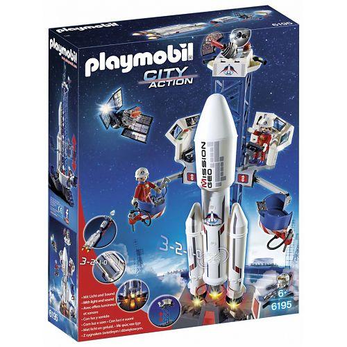 Playmobil  Lanceerbasis met raket Playmobil (6195)