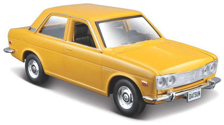 Datsun 510 1971 GEEL (MAISTO 1:24)