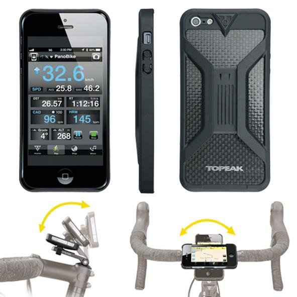 Topeak Iphone 5 houder RideCase zwart