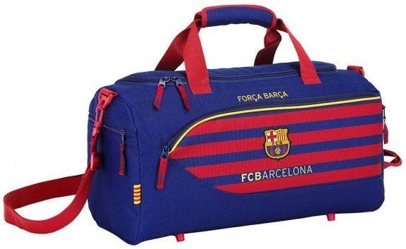 Sporttas Barcelona blauw/rood 50x25x28 cm