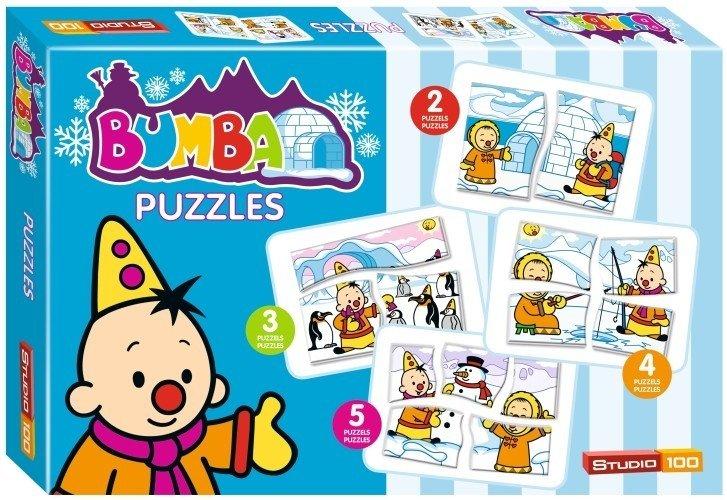 Puzzel Bumba In de Sneeuw Vier Puzzels (PUZZ340107)