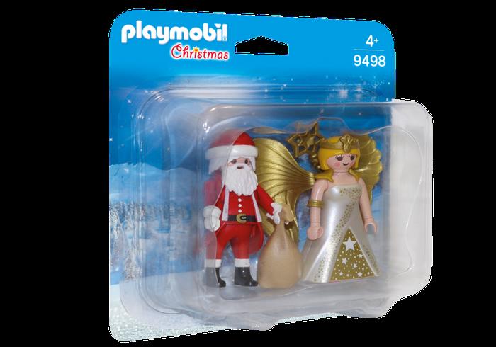 DuoPack Kerstman en Kerstengel Playmobil 9498