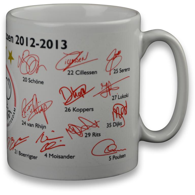 Ajax Mok Wit Handtekeningen (2013) (MOK0101290)