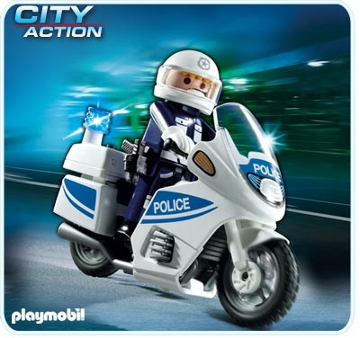 Politiemotor met Zwaailicht 5180 Playmobil