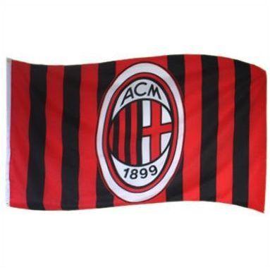Vlag Groot AC Milaan Strepen