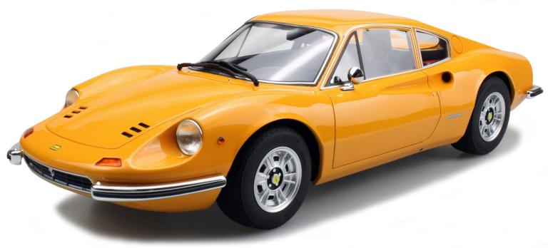 Ferrari DINO 246 GT (GEEL) (1:12)