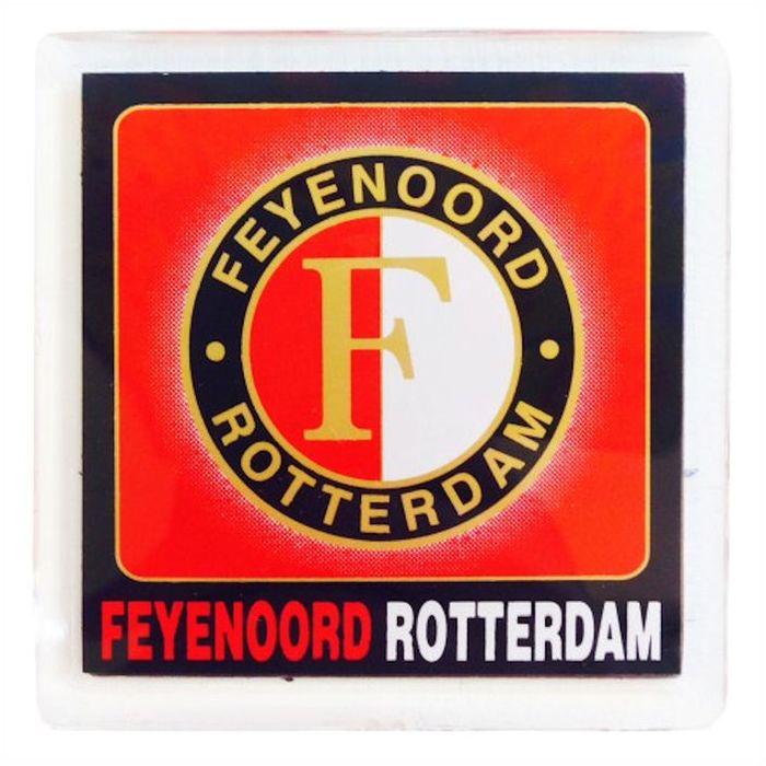 Magneet Feyenoord Logo Blok 6 x 6 cm  MAGN020201