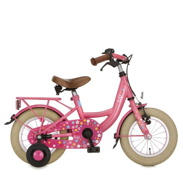 Lief! fiets 12 M remnaaf fuchia